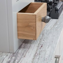 small oak dovetail drawer