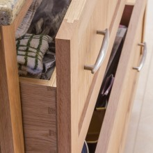 mortise and tenon construction with dovetail joint