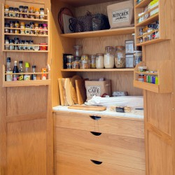 oak kitchen larder