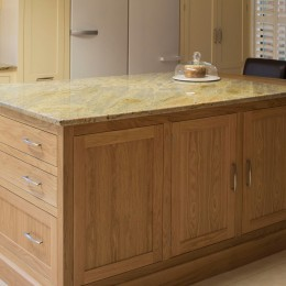 large oak kitchen island