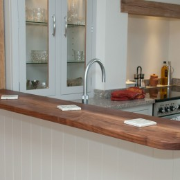 solid walnut breakfast bar