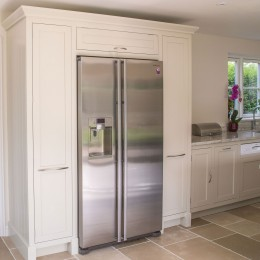 shaker kitchen built-in fridge